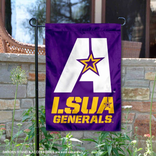 Louisiana Alexandria Generals Garden Flag is 13x18 inches in size, is made of 2-layer polyester, screen printed university athletic logos and lettering, and is readable and viewable correctly on both sides. Available same day shipping, our Louisiana Alexandria Generals Garden Flag is officially licensed and approved by the university and the NCAA.