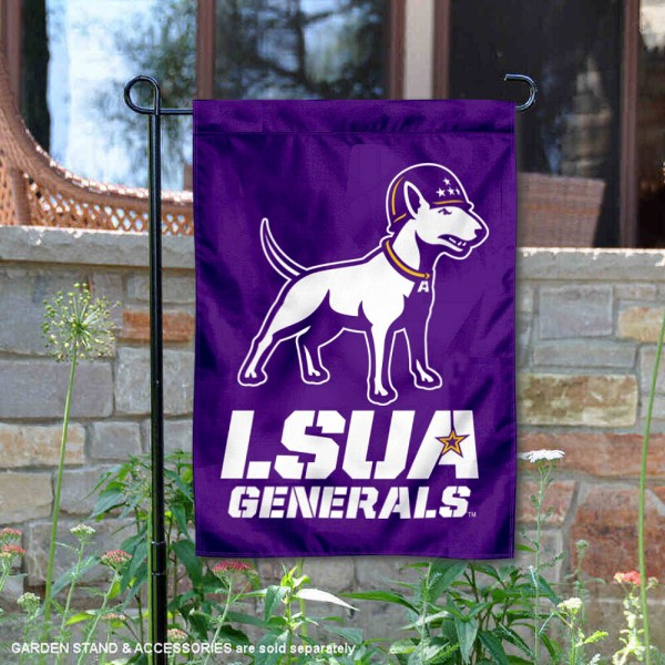 Louisiana Alexandria Generals Tank the Terrier Garden Flag is 13x18 inches in size, is made of 2-layer polyester, screen printed university athletic logos and lettering, and is readable and viewable correctly on both sides. Available same day shipping, our Louisiana Alexandria Generals Tank the Terrier Garden Flag is officially licensed and approved by the university and the NCAA.
