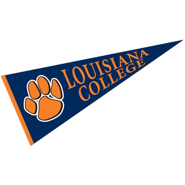 Louisiana College Pennant measures 12x30 inches, is made of wool, and the School logos are printed with raised lettering. Our Louisiana College Pennant is Officially Licensed and Approved by the University or Institution.
