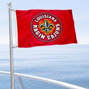 Louisiana Lafayette Boat and Mini Flag