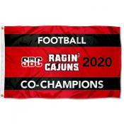 Louisiana Lafayette Ragin Cajuns 2020 Football Conference Champions Flag