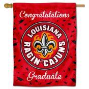 Louisiana Lafayette Ragin Cajuns Congratulations Graduate Flag