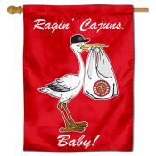 Louisiana Lafayette Ragin Cajuns New Baby Flag
