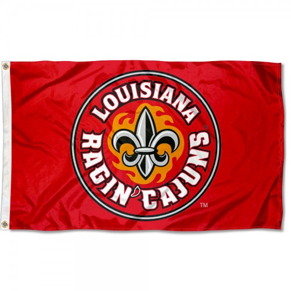 Louisiana Lafayette Rajun Cajuns Fleur Logo Flag measures 3x5 feet, is made of 100% polyester, offers quadruple stitched flyends, has two metal grommets, and offers screen printed NCAA team logos and insignias. Our Louisiana Lafayette Rajun Cajuns Fleur Logo Flag is officially licensed by the selected university and NCAA.