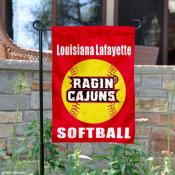 Louisiana Lafayette Softball Yard Flag