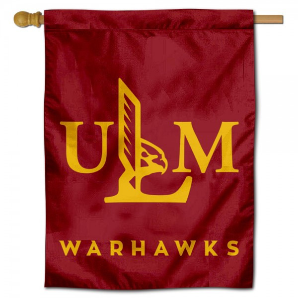 Louisiana Monroe Warhawks Double Sided House Flag is a vertical house flag which measures 30x40 inches, is made of 2 ply 100% polyester, offers screen printed NCAA team insignias, and has a top pole sleeve to hang vertically. Our Louisiana Monroe Warhawks Double Sided House Flag is officially licensed by the selected university and the NCAA.