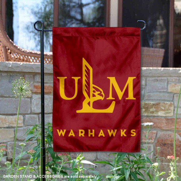Louisiana Monroe Warhawks ULM Garden Flag is 13x18 inches in size, is made of 2-layer polyester, screen printed university athletic logos and lettering, and is readable and viewable correctly on both sides. Available same day shipping, our Louisiana Monroe Warhawks ULM Garden Flag is officially licensed and approved by the university and the NCAA.