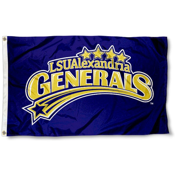 Louisiana State Alexandria 3x5 Flag measures 3'x5', is made of 100% poly, has quadruple stitched sewing, two metal grommets, and has double sided Team University logos. Our Louisiana State Alexandria 3x5 Flag is officially licensed by the selected university and the NCAA.
