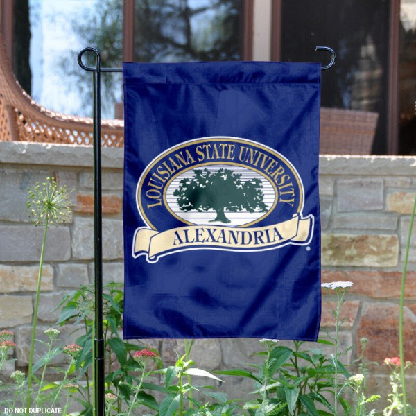 Louisiana State Alexandria Generals Garden Flag is 13x18 inches in size, is made of 2-layer polyester, screen printed Louisiana State Alexandria Generals athletic logos and lettering. Available with Same Day Express Shipping, Our Louisiana State Alexandria Generals Garden Flag is officially licensed and approved by Louisiana State Alexandria Generals and the NCAA.