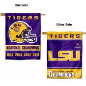 Louisiana State LSU Tigers 2019 and 4 Time Champions Double Sided House Flag
