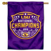 Louisiana State LSU Tigers 2019 College Football Champions Double Sided House Flag