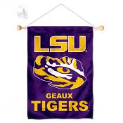 Louisiana State LSU Tigers Banner with Suction Cup