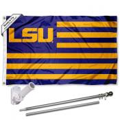 Louisiana State LSU Tigers Flag Pole and Bracket Kit