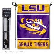 Louisiana State LSU Tigers Garden Flag and Pole Stand Holder