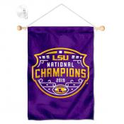 Louisiana State LSU Tigers National Champions Shield Banner with Suction Cup