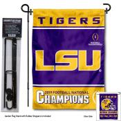 Louisiana State LSU Tigers National Football Champions Garden Flag and Pole Stand