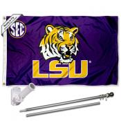 Louisiana State LSU Tigers SEC Flag Pole and Bracket Kit