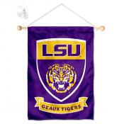 Louisiana State LSU Tigers Shield Banner with Suction Cup