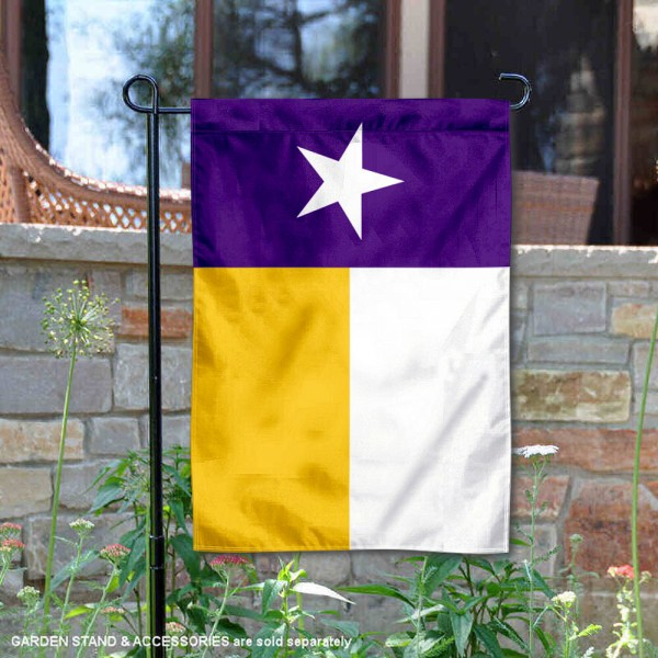 Louisiana State LSU Tigers Texas State Garden Flag is 13x18 inches in size, is made of 2-layer polyester, screen printed university athletic logos and lettering, and is readable and viewable correctly on both sides. Available same day shipping, our Louisiana State LSU Tigers Texas State Garden Flag is officially licensed and approved by the university and the NCAA.