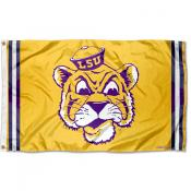 Louisiana State LSU Tigers Throwback Vault Logo Flag