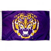 Louisiana State LSU Tigers Tiger Head Flag