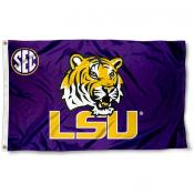 Louisiana State SEC Logo Flag