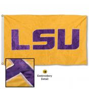 Louisiana State Tigers Nylon Embroidered Flag