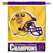 Louisiana State University 2019 Football National Champions Banner Flag