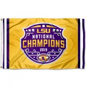 Louisiana State University College Football National Champions Gold Flag