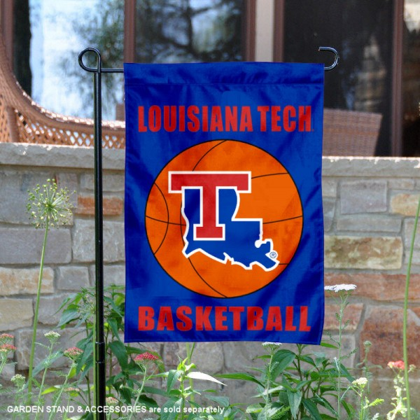Louisiana Tech Bulldogs Basketball Garden Banner is 13x18 inches in size, is made of 2-layer polyester, screen printed athletic logos and lettering. Available with Same Day Express Shipping, Our Louisiana Tech Bulldogs Basketball Garden Banner is officially licensed and approved by the school and the NCAA.