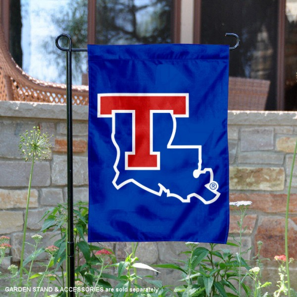 Louisiana Tech Bulldogs Garden Flag is 13x18 inches in size, is made of 2-layer polyester, screen printed university athletic logos and lettering, and is readable and viewable correctly on both sides. Available same day shipping, our Louisiana Tech Bulldogs Garden Flag is officially licensed and approved by the university and the NCAA.
