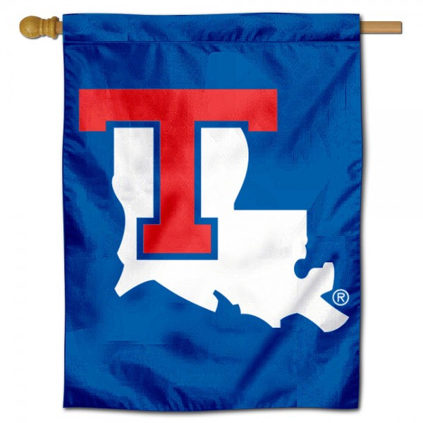 Louisiana Tech Bulldogs House Flag is a vertical house flag which measures 30x40 inches, is made of 2 ply 100% polyester, offers dye sublimated NCAA team insignias, and has a top pole sleeve to hang vertically. Our Louisiana Tech University House Flag is officially licensed by the selected university and the NCAA