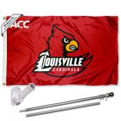 Louisville Cardinals ACC Flag Pole and Bracket Kit
