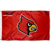 Louisville Cardinals ACC Logo Flag