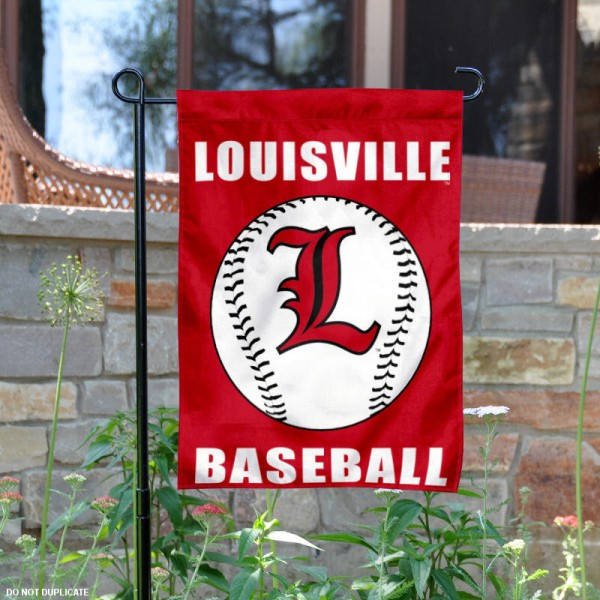 Louisville Cardinals Baseball Team Garden Flag is 13x18 inches in size, is made of 2-layer polyester, screen printed University of Louisville Baseball athletic logos and lettering. Available with Express Shipping, Our Louisville Cardinals Baseball Team Garden Flag is officially licensed and approved by University of Louisville Baseball and the NCAA.