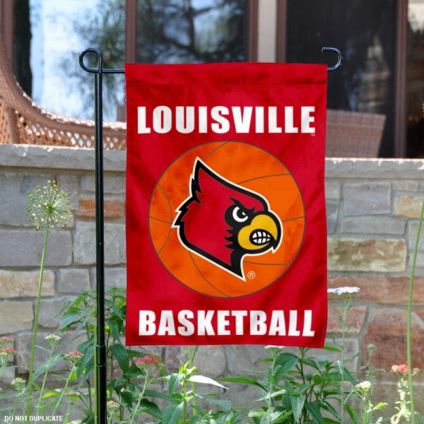 Louisville Cardinals Basketball Garden Banner is 13x18 inches in size, is made of 2-layer polyester, screen printed athletic logos and lettering. Available with Same Day Express Shipping, Our Louisville Cardinals Basketball Garden Banner is officially licensed and approved by the school and the NCAA.