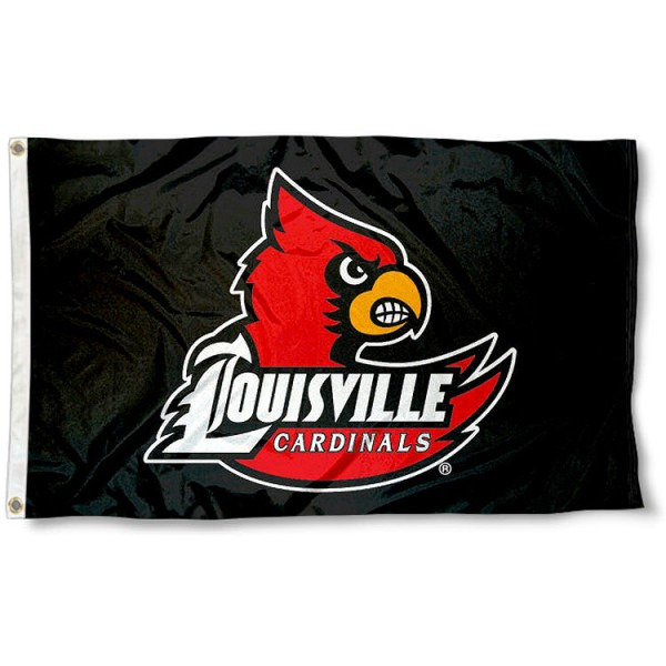 Louisville Cardinals Black 3x5 Flag measures 3'x5', is made of 100% poly, has quadruple stitched sewing, two metal grommets, and has double sided Team University logos. Our University of Louisville 3x5 Flag is officially licensed by the selected university and the NCAA.
