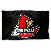 Louisville Cardinals Black 3x5 Flag
