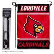Louisville Cardinals Garden Flag and Pole Stand Holder