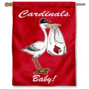 Louisville Cardinals New Baby Flag