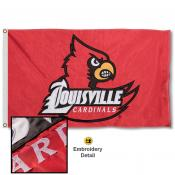 Louisville Cardinals Nylon Embroidered Flag