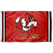 Louisville Cardinals Throwback Vault Logo Flag