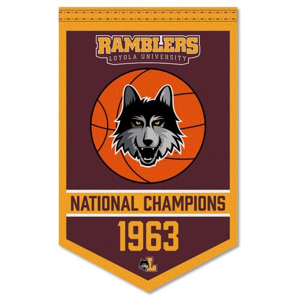 Loyola Chicago Ramblers Banner with Hanging Pole