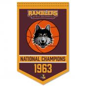 Loyola Chicago Ramblers Basketball National Champions Banner