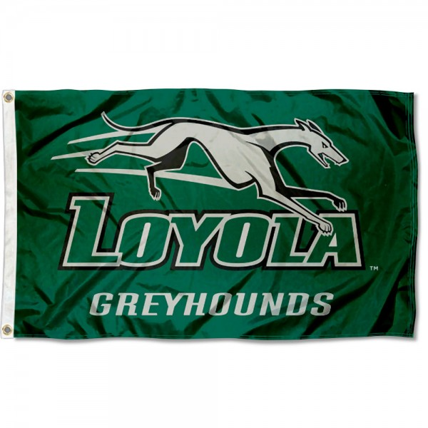 Loyola Maryland Greyhounds Flag measures 3x5 feet, is made of 100% polyester, offers quadruple stitched flyends, has two metal grommets, and offers screen printed NCAA team logos and insignias. Our Loyola Maryland Greyhounds Flag is officially licensed by the selected university and NCAA.