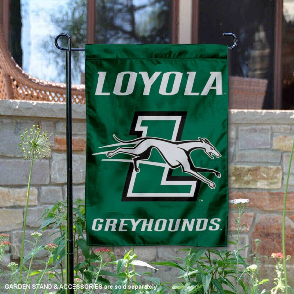 Loyola Maryland Greyhounds Garden Flag is 13x18 inches in size, is made of 2-layer polyester, screen printed university athletic logos and lettering, and is readable and viewable correctly on both sides. Available same day shipping, our Loyola Maryland Greyhounds Garden Flag is officially licensed and approved by the university and the NCAA.