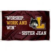 Loyola Ramblers Sister Jean Flag