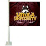 Loyola University Chicago Car Window Flag
