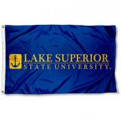 LSSU Lakers Wordmark Logo Flag