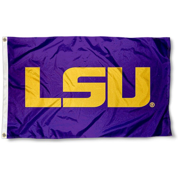 LSU 3x5 Flag measures 3'x5', is made of 100% poly, has quadruple stitched sewing, two metal grommets, and has double sided Team University logos. Our LSU 3x5 Flag is officially licensed by the selected university and the NCAA.